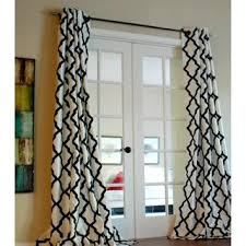 Black White Gray Curtains Black And White Trellis Bold Flocked Curtain Panel