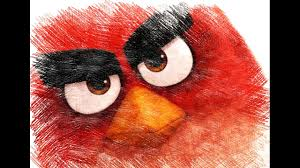 angry birds characters color pencil sketch video kids