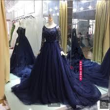 blue wedding dress designer navy blue wedding dresses 2017 fashion gown sleeve