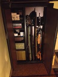 american classics gun cabinet american furniture classics woodmark 7 38 cu ft 16 gun cabinet 916
