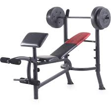 Bench Press Program Chart Weider Pro 265 Standard Bench With 80 Lb Vinyl Weight Set