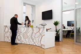 Double Reception Desk by Lamasatech Visitor Management System