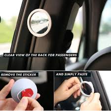 Remove Blind Spot Mirror Buy Smiledrive Car Safety Blind Spot Rear View Mirror 180 Degree