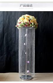 Silver Vases Wedding Centerpieces Aliexpress Com Buy 100cm H Silver Wedding Flower Vase Wedding