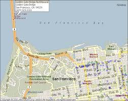 san francisco on map golden gate bridge san francisco map
