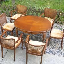 Ebay Chippendale Esszimmer Chippendale Sitzgruppe Armlehnstuhl Sonnengeflecht Esstisch