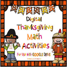 thanksgiving math activities for use with by mrs c s