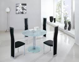 Frosted Glass Dining Room Table by Kitchen U0026 Dining Round Glass Table For Small Dining Room