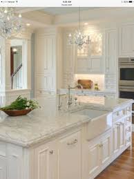 kitchen white cabinets and white appliances white and wood