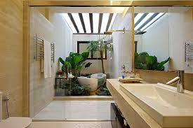 tropical bathroom ideas bathroom tropical modern bathroom with garden relaxing