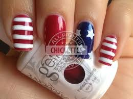 patriotic 4th of july nail art with gelish u2013 chickettes soak off