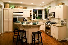 decorating ideas for kitchen islands kitchen casual picture of u shape kitchen decoration using dark