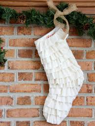 how to make a pretty ruffle stocking how tos diy