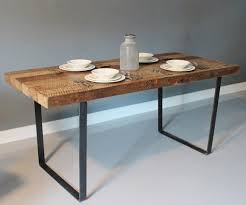 wood table with metal legs wonderful wooden top and metal leg dining table simple modern for