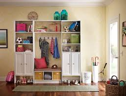 awesome modern mudroom design with well made storage ideas
