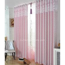 White With Pink Polka Dot Curtains Little Dreamy Girls Pink Fiber Bedroom White Polka Dot Curtains