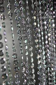beaded curtains smoke gray iridescent 3 ft x 6 ft