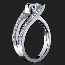 tension engagement rings 3 sided tension set split shank pave engagement ring