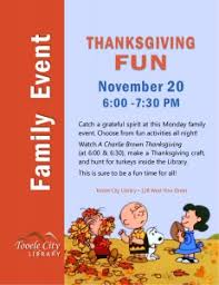 library thanksgiving for families tooele city