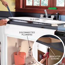 How To Install A Kitchen Island How To Replace A Kitchen Benchtop Australian Handyman Magazine
