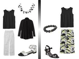 a simple black u0026 white summer wardrobe with accessories the