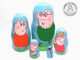 gifts for kids peppa pig nesting dolls 11 cm 43 kids gift matryoshka