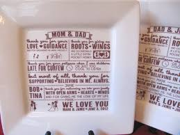 wedding gift for parents parent wedding gift thank you platter from and groom and