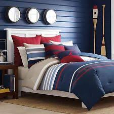 White And Red Comforter Striped Nautical Comforters U0026 Bedding Sets Ebay