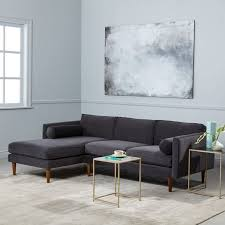 monroe mid century 2 piece chaise sectional west elm