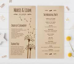 affordable wedding programs rustic wedding programs sunflower wedding