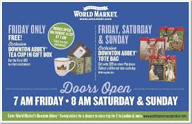 lots going on at worldmarket when downton abbey rolls into the