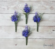 boutineer flowers blue boutonniere silk flower boutonniere boutonniere wedding