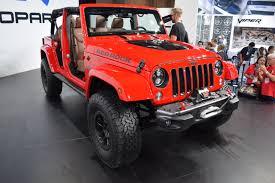 jeep wrangler red mopar unveils jeep wrangler red rock concept onallcylinders
