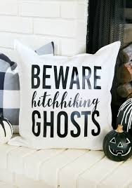 inspired haunted mansion halloween pillow