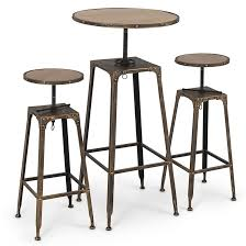High Bistro Table Lovable Bistro Table Stools 3pc Adjustable Pub Table W Stools