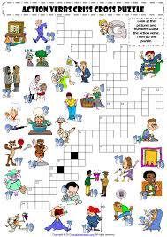 action word crossword u0026 sc 1 st slideshare