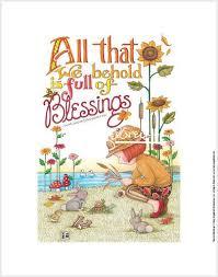 behold blessings print engelbreit