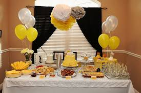 yellow baby shower ideas appealing yellow grey baby shower decorations 65 on baby