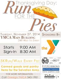 run for the pies in oswego ny this thanksgiving fitzgibbons agency
