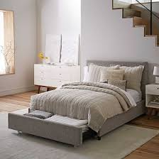 beds and beds contemporary upholstered storage bed deco weave west elm