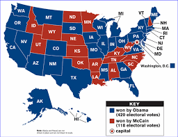 2008 Presidential Election Map by 2008 October Blueollie