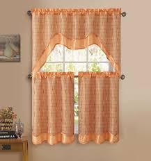 Orange Kitchen Curtains Sale Inspiring Orange Kitchen Curtains And Orange Plaid Kitchen
