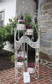 Wrought Iron Garden Decor Vintage Wrought Iron Plant Stand Garden Decor By Colorgirlz
