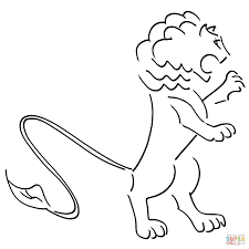 baby baby lion coloring pages