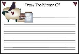 7 best images of free printable 4x6 recipe card templates