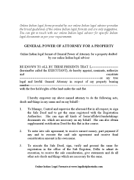 Format Of General Power Of Attorney by General Power Of Attorney Docshare Tips