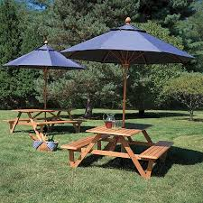 octagon picnic table plans with umbrella hole teak wood picnic table with umbrella hole larchmont picnic table