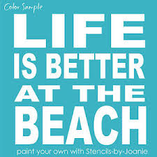 stencil life better at beach block lettering typography art subway