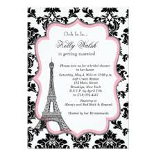 Eiffel Tower Invitations Black And White Eiffel Tower Invitations U0026 Announcements Zazzle