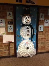 Christmas Office Door Decorations Snowman Office Door Decorations Kobigal Com